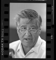 Activist César Chávez, portrait, 1987