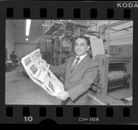Jose Luis Becerra, publisher of El Diario de Los Angeles, 1987