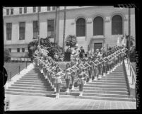 The Comptonettes and Compton High School Band at City Hall for National Music Week in Los Angeles, Calif., 1957