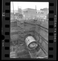 Construction of subway Alvarado station in Los Angeles, Calif., 1987