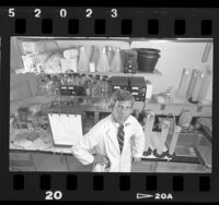 Dr. Robert P. Gale in his molecular biology laboratory at UCLA Medical Center, 1988