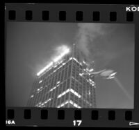 Fire in 38-story Union Bank building in Los Angeles, Calif., 1988