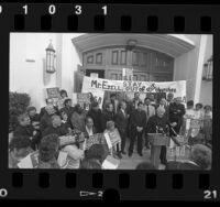 INS protest at St. Matthias Catholic Church in Los Angeles, Calif., 1988