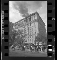 Fire at the Hall of Justice in Los Angeles, Calif., 1988