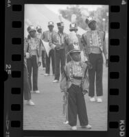 Compton High School band at event honoring Berry Gordy in Compton, Calif., 1988