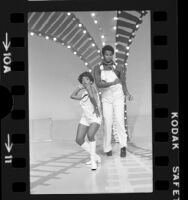 "Jocelyn Banks and Fred Camble on ""Soul Train"" television program, Calif., 1975"