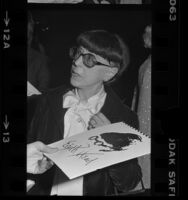 Edith Head, costume designer in Los Angeles, Calif., 1976