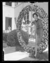 University of Southern California Delta Delta Delta Sorority's 38th Pansy Ring ceremony, 1961