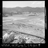 Shopping center surrounded by rural land in Conejo Valley at Moorpark and Highway 101, Calif., 1961