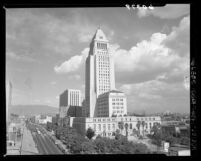 South-west side of Los Angeles City Hall, Calif., 1949