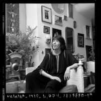 Comedian Lily Tomlin in her home in Los Angeles, Calif., 1976
