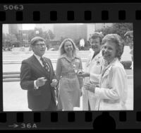 Dr. Nancy Warner, recipient of CARES' Woman in Medicine Award with colleagues at LA County-USC Medical Center, Calif., 1976