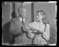 Actress Lauren Bacall and film director Howard Hawks, circa 1943