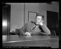 Portrait of John F. Kennedy in navy uniform, circa 1943