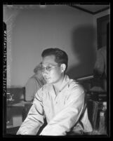 Army Sergeant Minoru Masukane, first Pacific Coast Japanese American soldier discharged from service in 1945