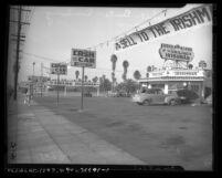 Smiling Irishman used car dealership in Los Angeles, Calif., circa 1946