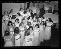 Debutantes at the 1946 Las Madrinas Ball in Los Angeles, Calif.
