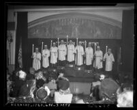 Los Angeles' Jewish Home for the Aged 1946 Hanukkah candle lighting ceremony
