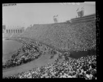 Los Angeles County Sheriff's Rodeo at the Los Angeles Coliseum, Calif., 1950