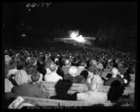 "View from audience of ""California Story"" production at the Hollywood Bowl, Calif., 1950"