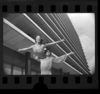 Figure skaters Tai Babilonia and Randy Gardner, Calif., 1979