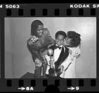 Actors Gary Coleman, Danielle Spencer and Kim Fields at the NAACP Image Awards in Los Angeles, Calif., 1980
