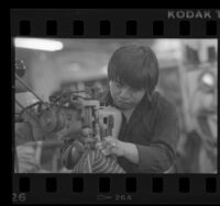 Male garment work in Los Angeles, Calif., 1989