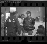 Randall Terry, Operation Rescue founder, being booked after demonstration in Los Angeles, Calif., 1989