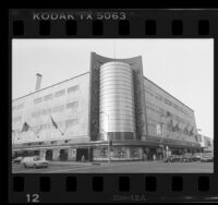 Exterior of the May Co. department store at corner of Fairfax and Wilshire Blvd. in Los Angeles, Calif., 1990