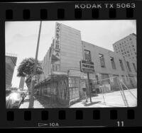 Demolition of Ontra Café in Hollywood, Calif., 1990