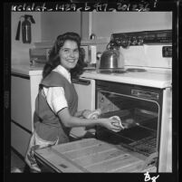 "Cathy Maliner named ""Homemaker of Tomorrow"" in of Los Angeles, Calif. , 1960"