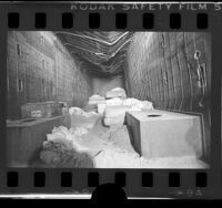 Interior of truck trailer in which the Chowchilla kidnap victims were held, 1976