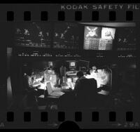 Martian probe mission control room at Jet Propulsion Lab, Calif., 1976