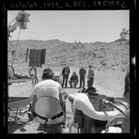"Filming of PBS Theater production for ""Waiting for Godot"" in Palmdale, Calif., 1977"