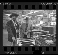 Len and Al Aaron of Aaron Bros. Art Marts, 1977