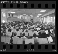 Los Angeles Philharmonic performing for inmates at Federal Correctional Institution at Terminal Island, Calif., 1977