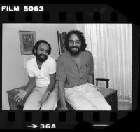 Actors Cheech Marin and Tommy Chong, portrait, 1979
