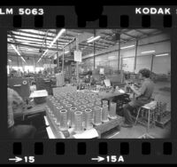 """Pacific Scientific employees assembling """"snubbers"""" used in nuclear power plants, Anaheim, 1979"""