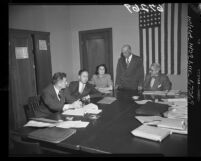 Deportation hearing for California Institute of Technology scientist, Dr. Hsue-shen Tsien, 1950