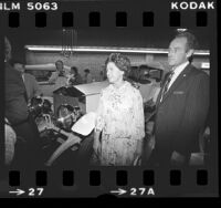 Britain's Princess Margaret at dedication of Rolls-Royce service garage in Los Angeles, Calif., 1979