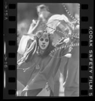 Norma Pedregon dancing in Day of the Dead celebration in Los Angeles, Calif., 1979