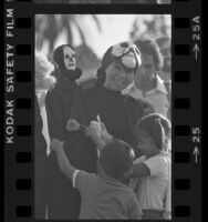 Puppeteer Paula Goldstein at Day of the Dead celebration in Los Angeles, Calif., 1979