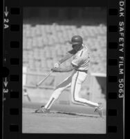 Darryl Strawberry at bat during Crenshaw High School game in Los Angeles, Calif., 1980