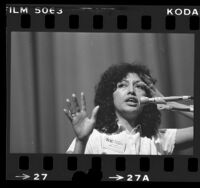 Antonia Lopez speaking at the California Governor's Chicana Issues Conference, 1980