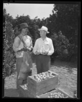 George A. Graham of Citrus Growers, Inc., with Armando Quinones of Mexico, 1948