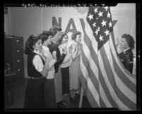 First women to be enlisted in the regular United States Navy; Los Angeles, Calif., 1948
