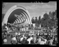 Lutheran pageant and gathering at Hollywood Bowl in Los Angeles, Calif., 1948