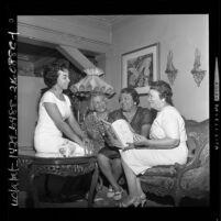 Women's Sunday Breakfast Club members, Marilyn Green, Lois Byrd, Theresa Lindsay and Mildred McKinney, Los Angeles, Calif., 1962
