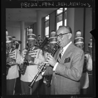 Benny Goodman playing with the Disneyland Band, 1962
