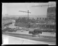 Construction of the Los Angeles Music Center Pavilion, 1962